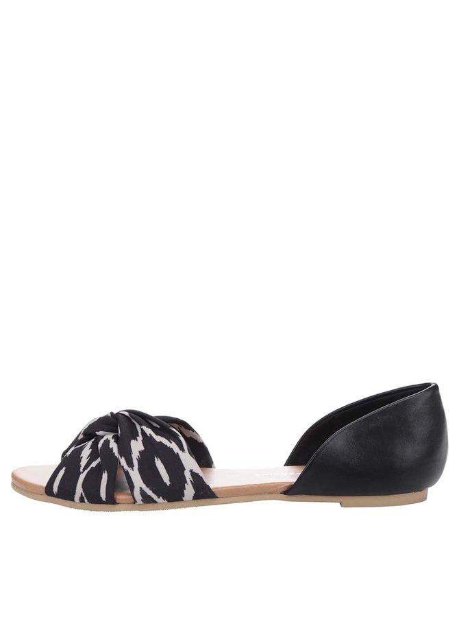 Sandale negre Dorothy Perkins cu imprimeu