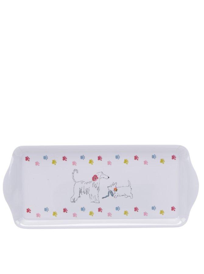 Bílý malý tác s motivem psů Cooksmart