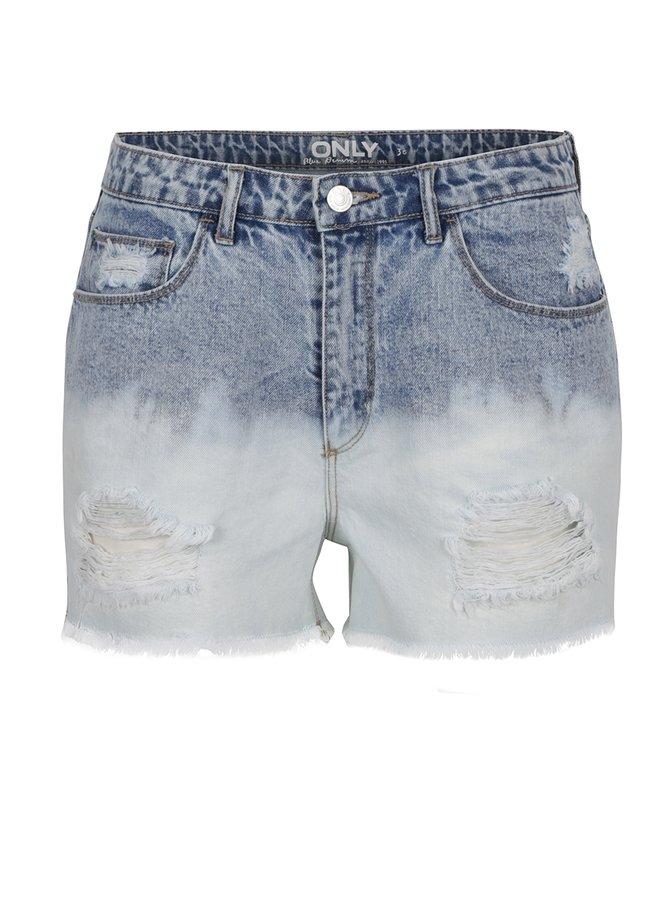 Pantaloni scurți albaștri ONLY Molly cu aspect uzat