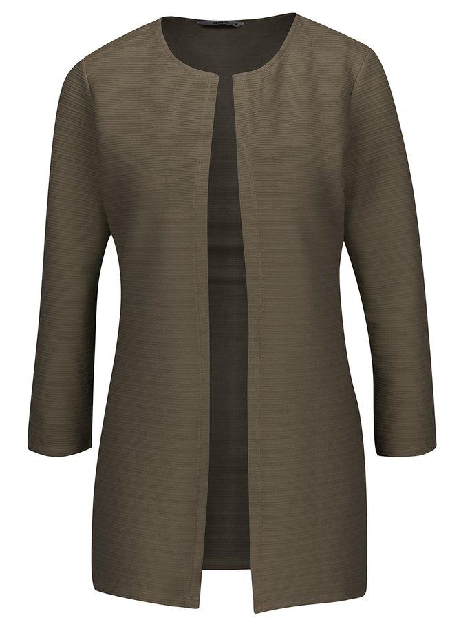 Khaki žebrovaný cardigan ONLY Leco