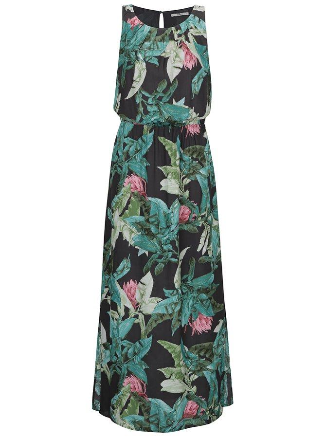 Zeleno-šedé květované maxišaty ONLY Mina