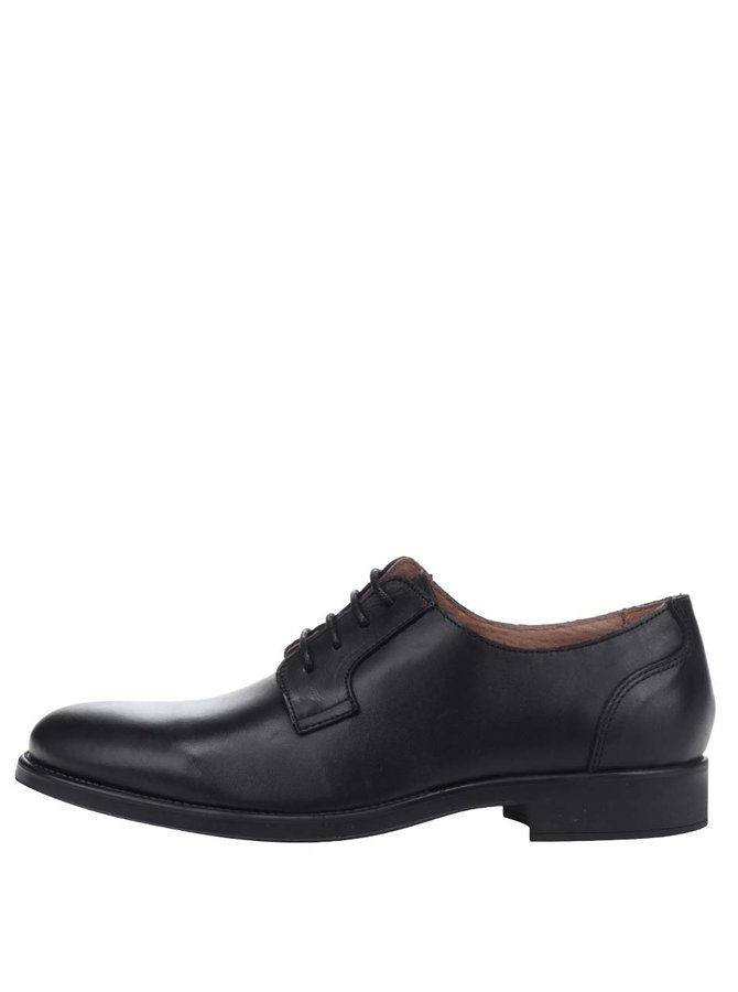 Pantofi negri din piele Selected Homme Oliver