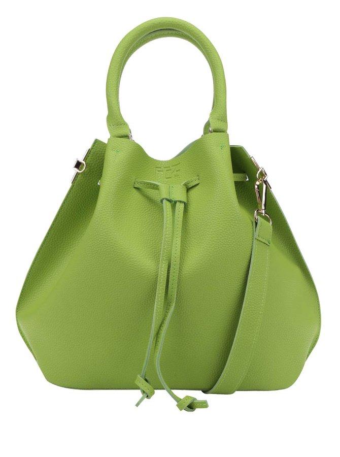 Geantă sac verde cu baretă crossbody Fez by Fez Secchiello