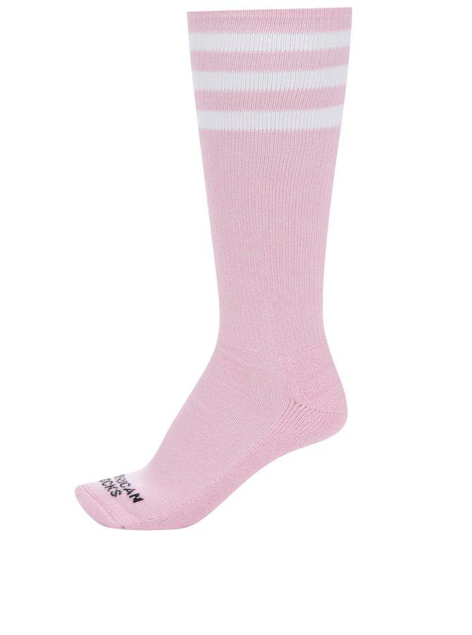 Růžové dámské podkolenky American Socks