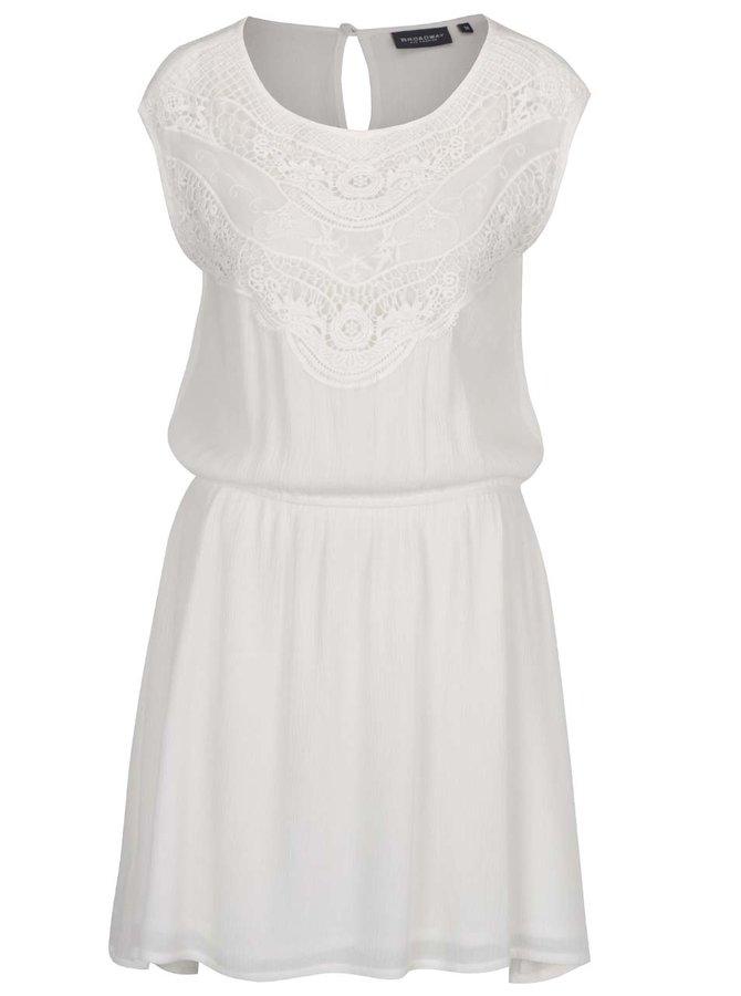 Krémové šaty s krajkovými detaily Broadway Giuliana