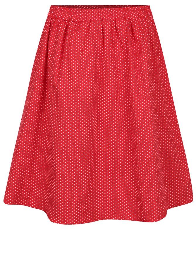 Červená puntíkovaná sukně s kapsami ZOOT