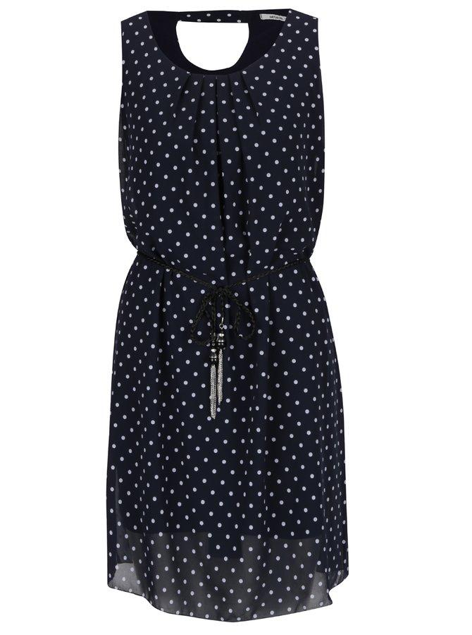 Tmavě modré puntíkované šaty Haily's Lotta