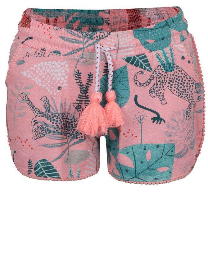 Pantaloni scurți roz 5.10.15 cu imprimeu pentru fete