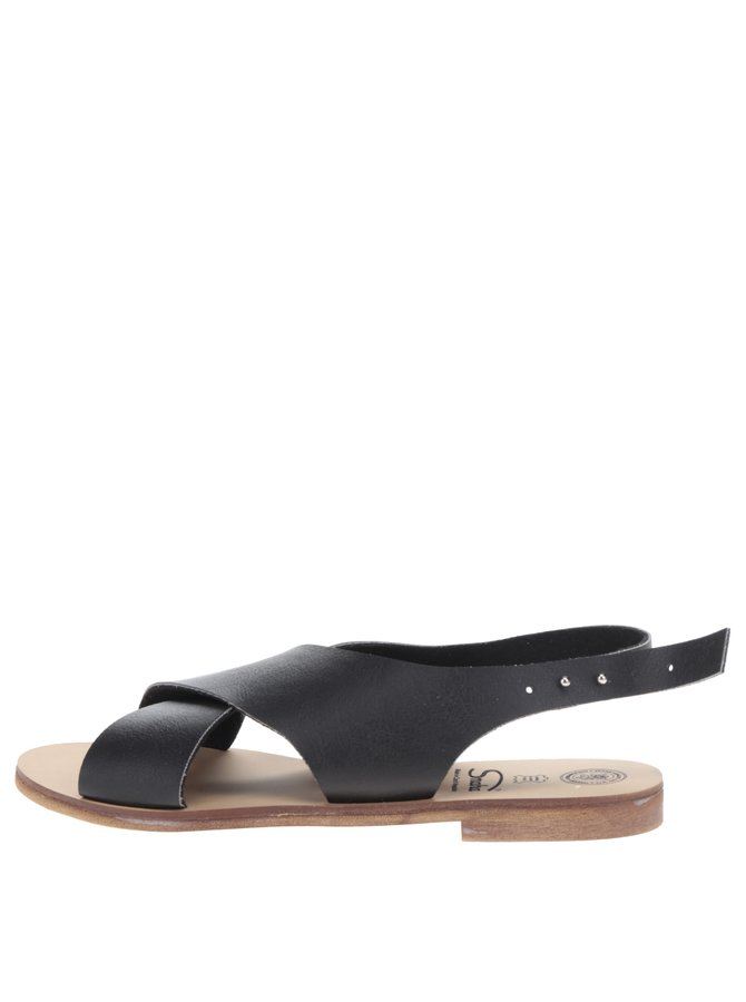 Černé sandály Snaha Rio 160