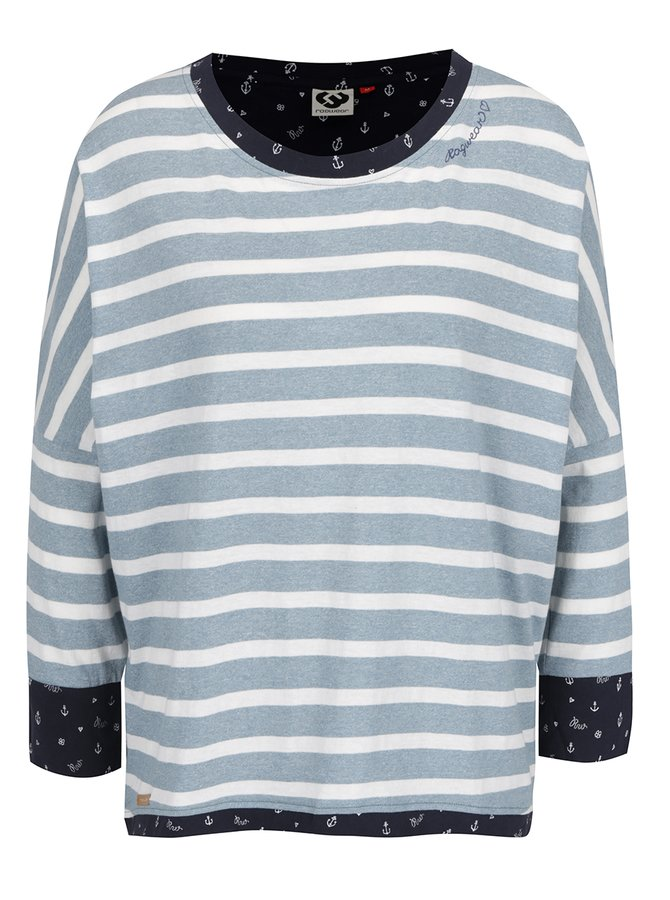 Světle modré dámské pruhované tričko Ragwear Blanche