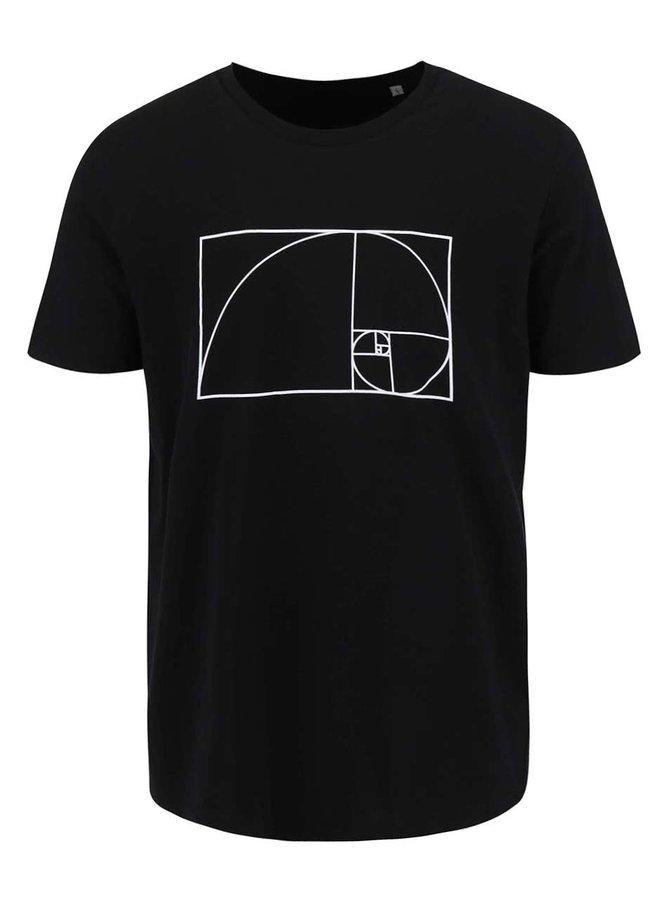 Tricou bărbătesc ZOOT Original Fibonacci negru