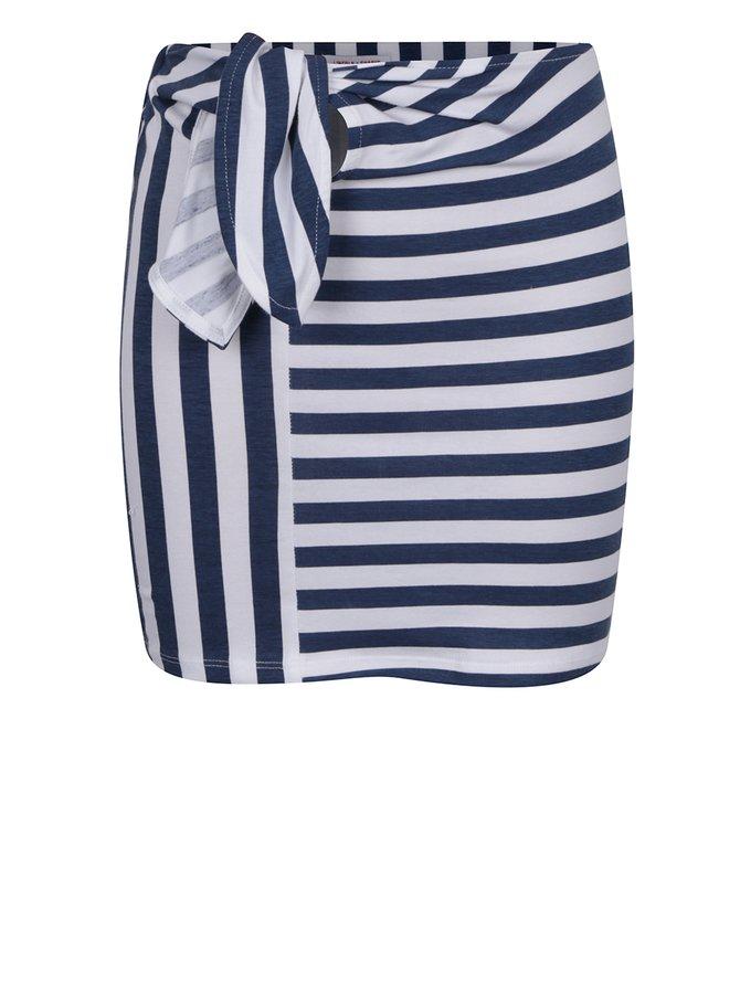 Fustă alb&albastru 5.10.15 cu model în dungi pentru fete