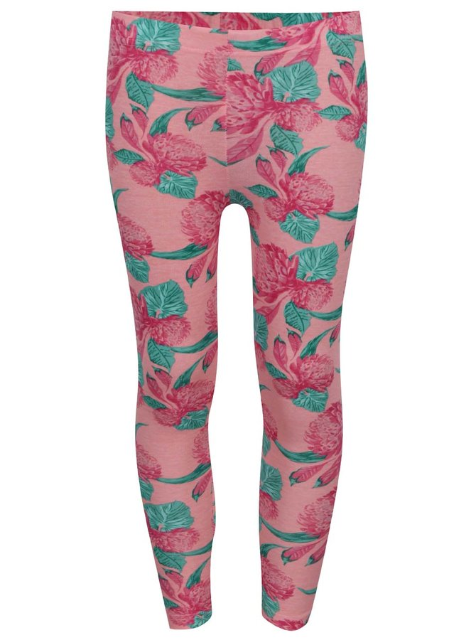 Colanți roz 5.10.15 cu imprimeu floral pentru fete