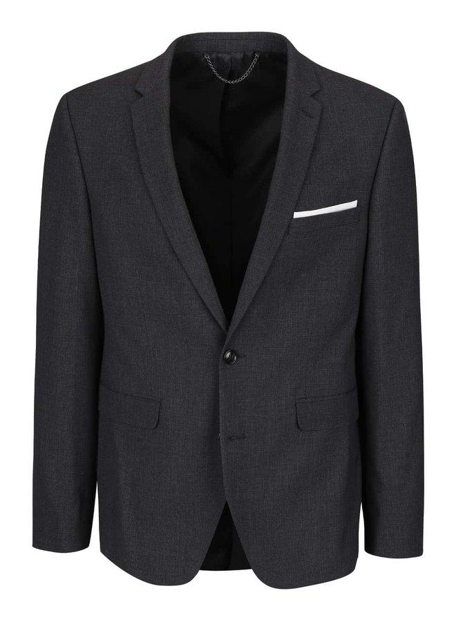 Sivé melírované skinny fit sako Burton Menswear London