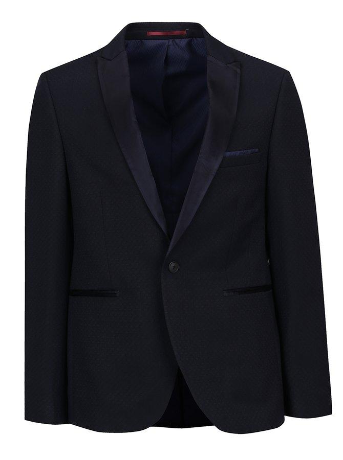Tmavě modré oblekové skinny fit sako Burton Menswear London