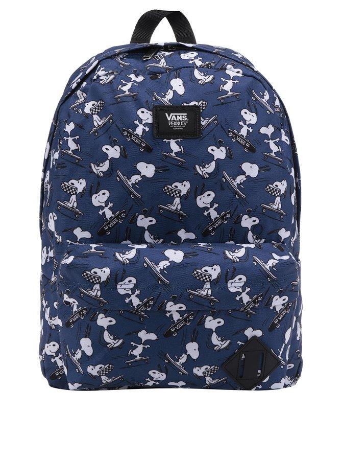 Tmavě modrý unisex batoh s motivem Snoopyho VANS Old Skool 22 l