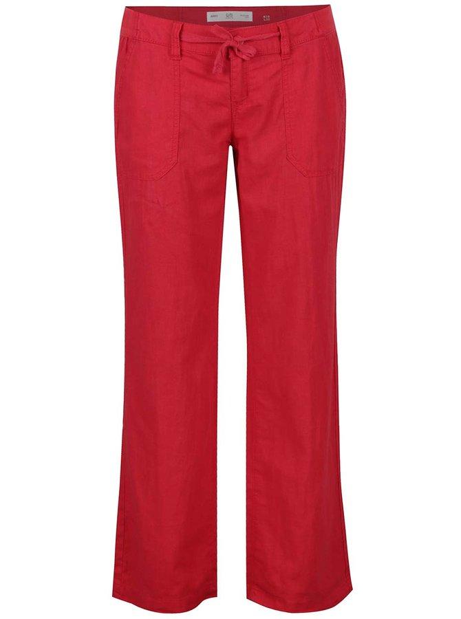 Červené dámské lněné kalhoty QS by s.Oliver