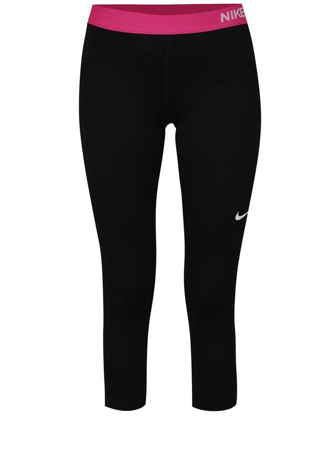 Růžovo-černé dámské funkční 3/4 legíny Nike