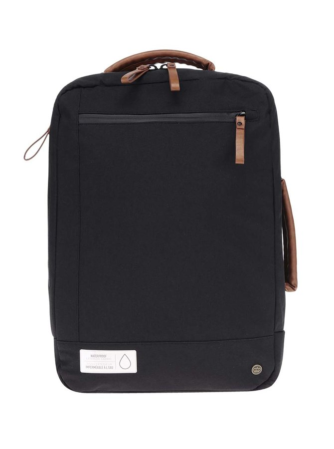 Černý unisex voděodolný batoh/taška na notebook PKG