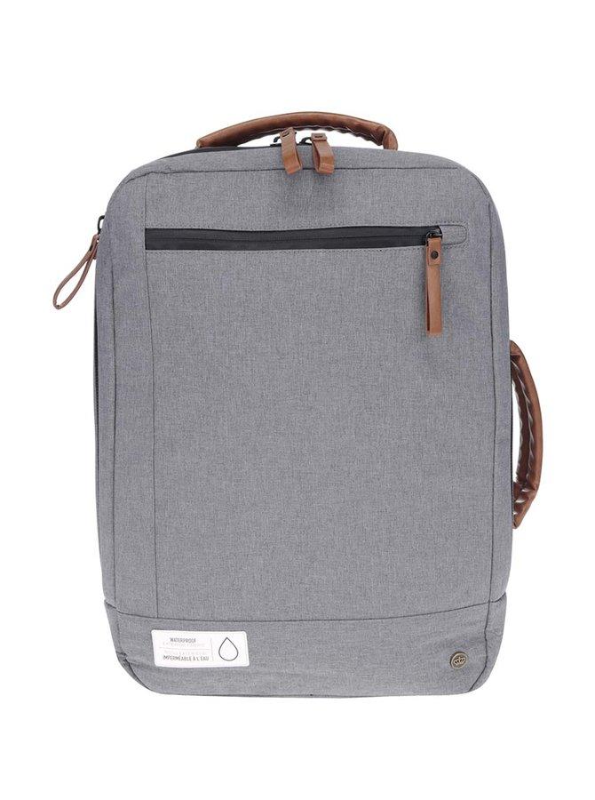 Světle šedý unisex voděodolný batoh/taška na notebook PKG
