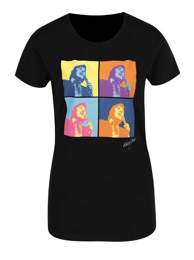 Černé dámské tričko s potiskem Gott My Life Warhol