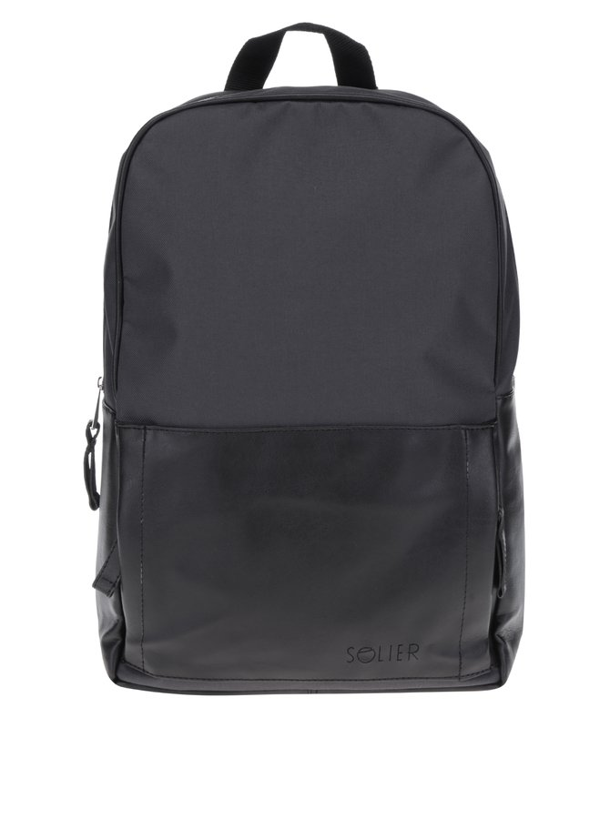 Černo-šedý pánský batoh Solier