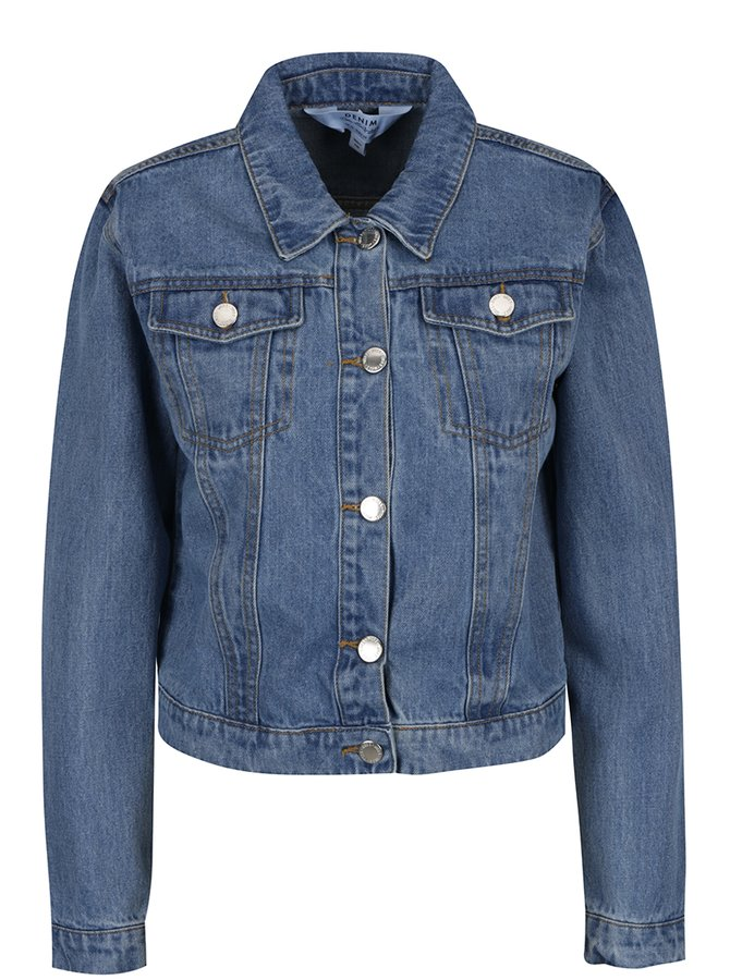 Jachetă albastră din denim Miss Selfridge