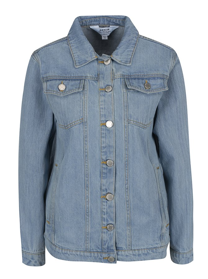 Světle modrá džínová bunda Miss Selfridge