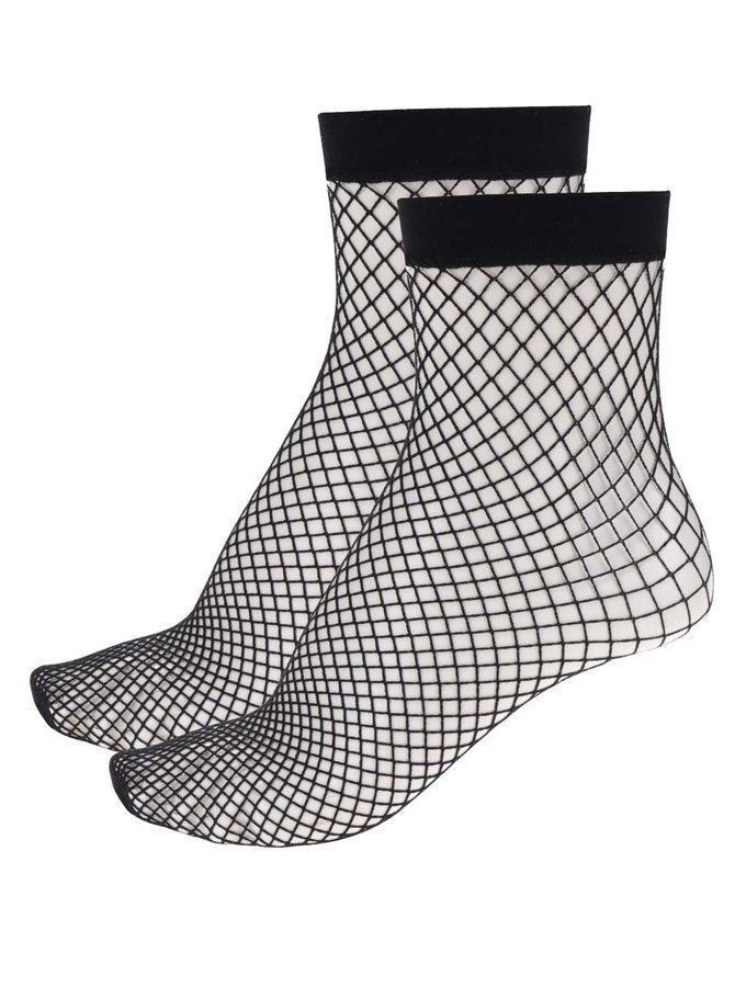 Sada dvou párů černých síťovaných ponožek TALLY WEiJL