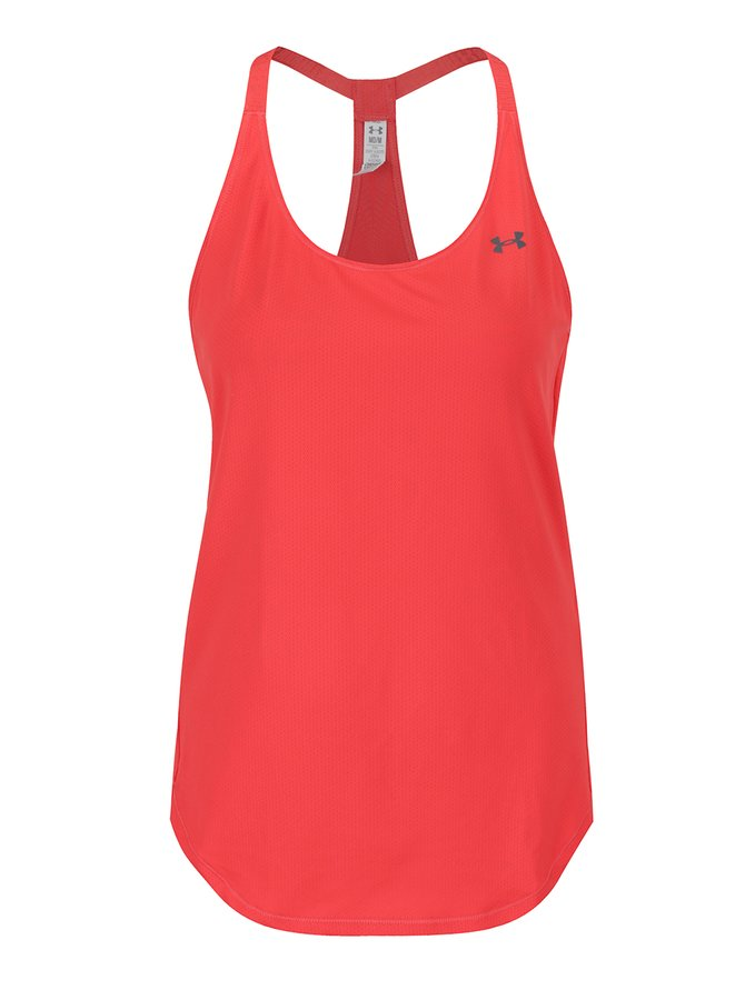 Top sport roșu Under Armour Coolswitch cu print