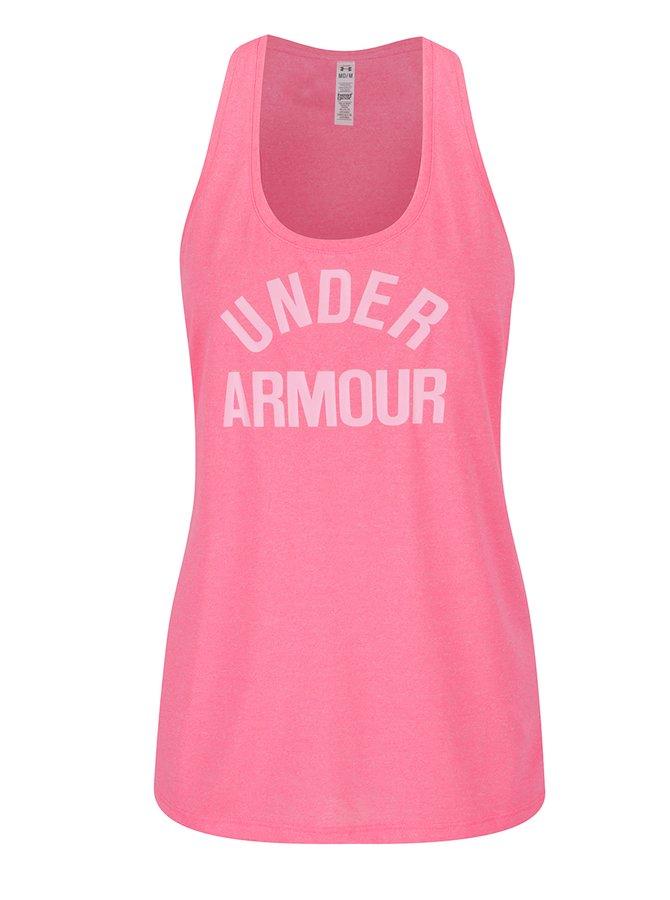 Top sport roz cu print Under Armour Threadborne Train pentru femei