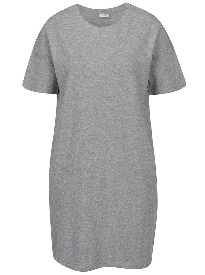 Světle šedé žíhané šaty s kapsami Jacqueline de Yong Sally