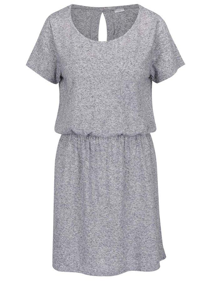 Šedé žíhané šaty s příměsí lnu Jacqueline de Yong Bolette