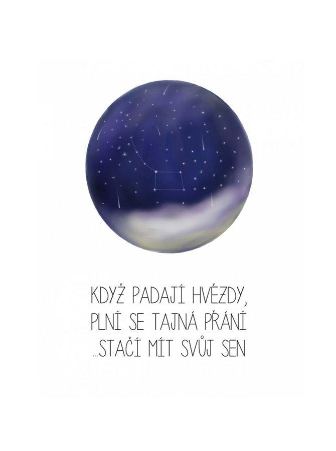 Bílý plakát  HEZKÝ SVĚT Hvězdy