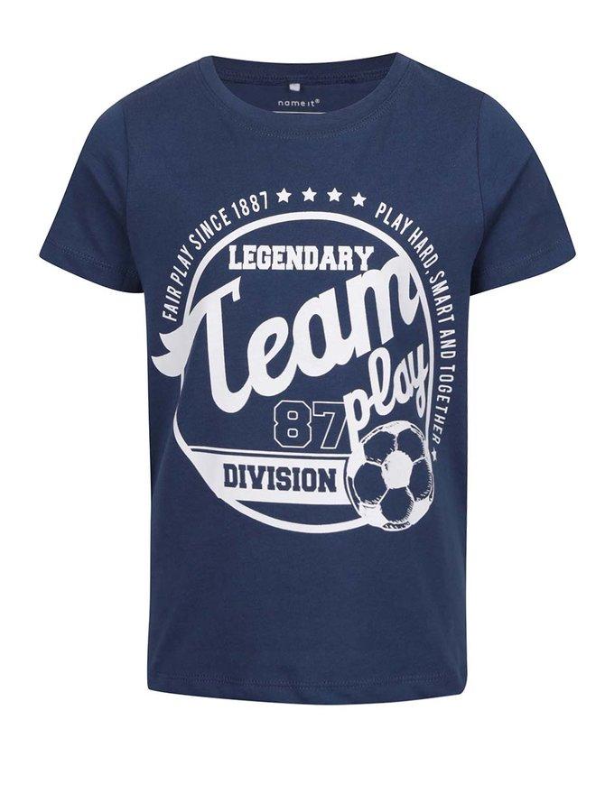Tricou bleumarin cu print pentru băieți name it Victorhox