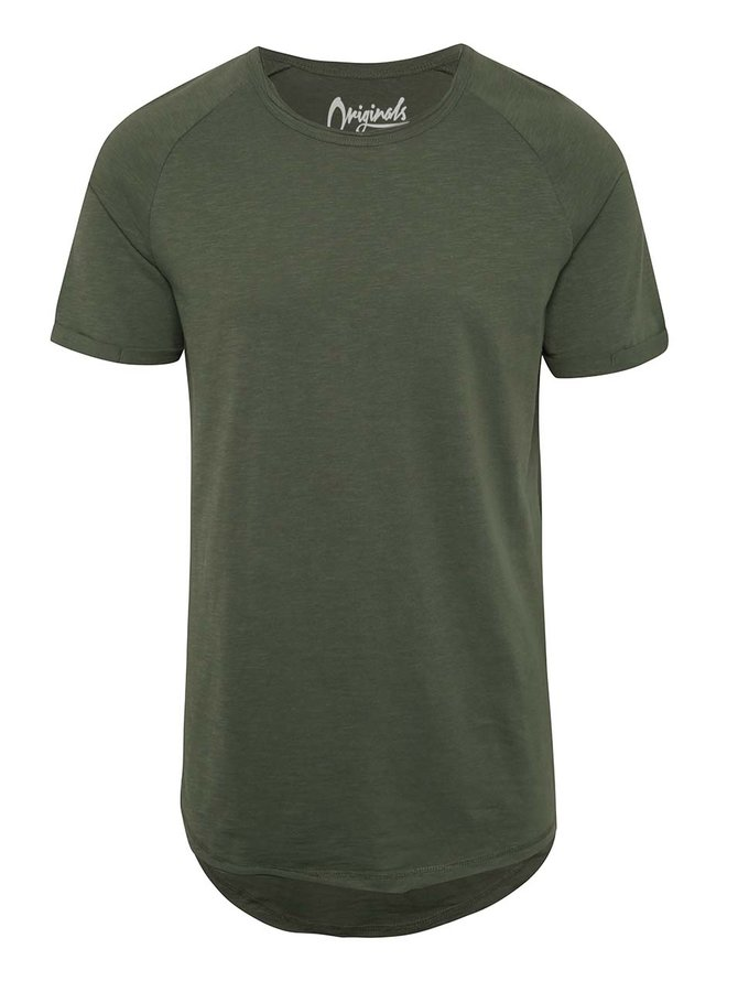 Khaki žíhané triko Jack & Jones Southern