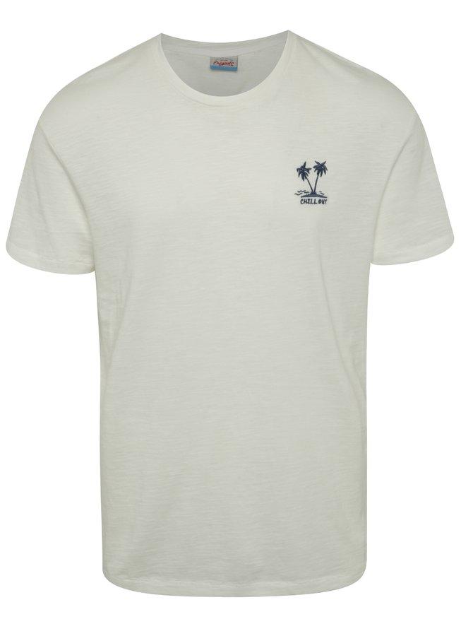 Krémové žíhané triko s detailem Jack & Jones Costa