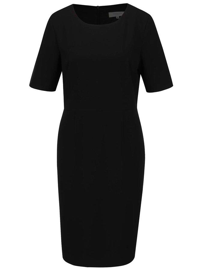 Černé šaty s krátkým rukávem Selected Femme Lamira