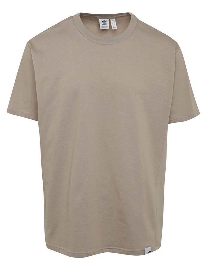 Béžové pánské volné triko s krátkým rukávem adidas Originals Xbyo