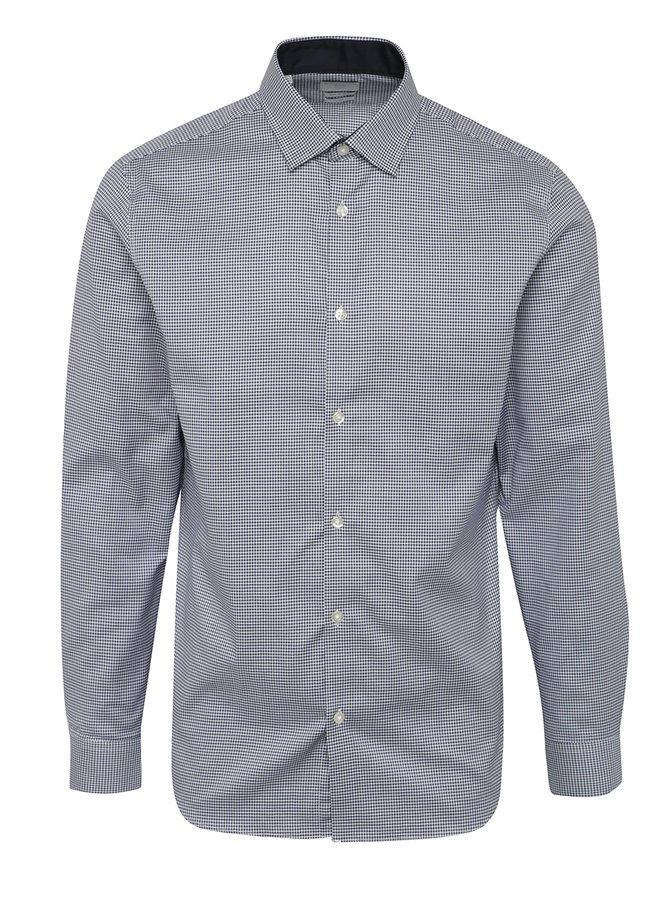 Tmavě modrá kostkovaná slim fit košile Selected Homme One New