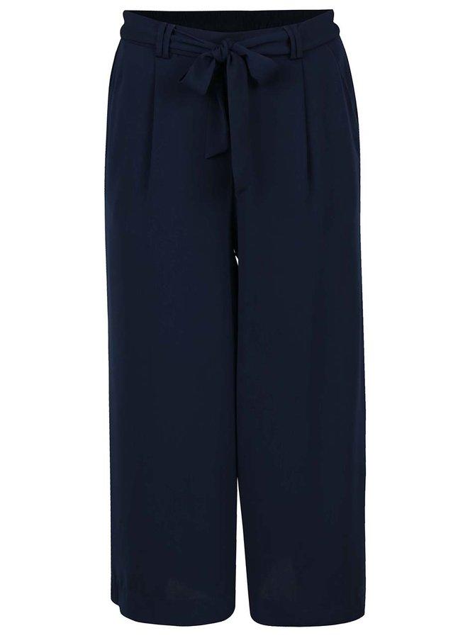 Pantaloni culottes bleumarin VERO MODA Maili cu panglici în talie