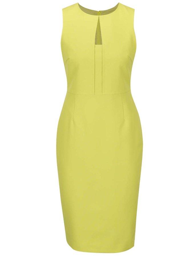 Žluté pouzdrové šaty s detaily Dorothy Perkins