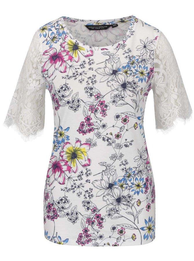 Bluză crem Dorothy Perkins cu imprimeu floral