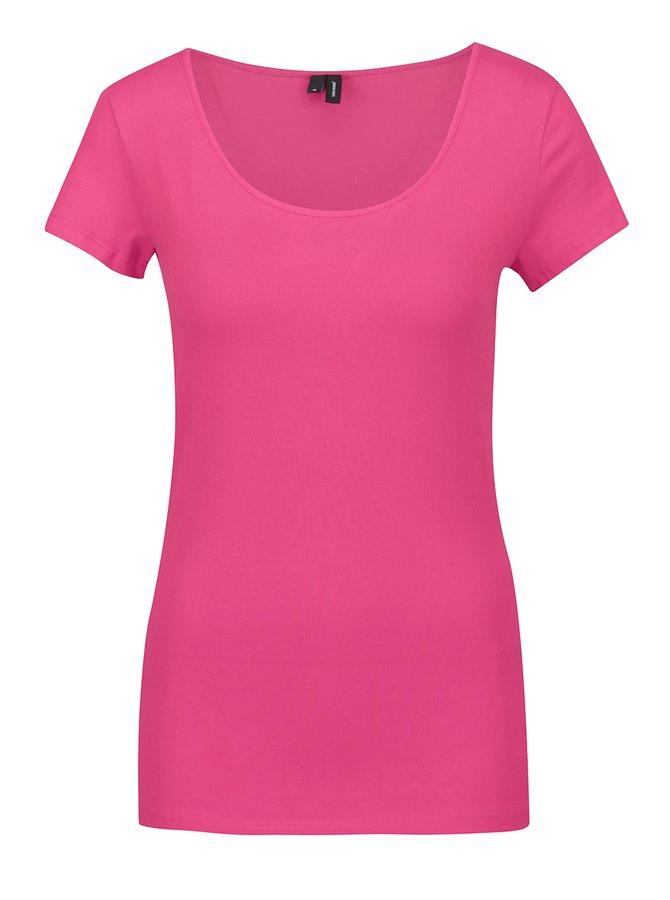 Tricou basic roz VERO MODA Maxi