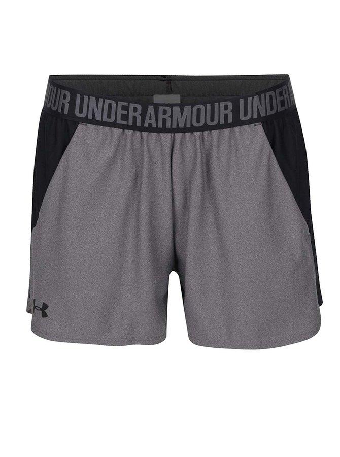 Pantaloni scurți negru&gri Under Armour UA Play Up pentru femei