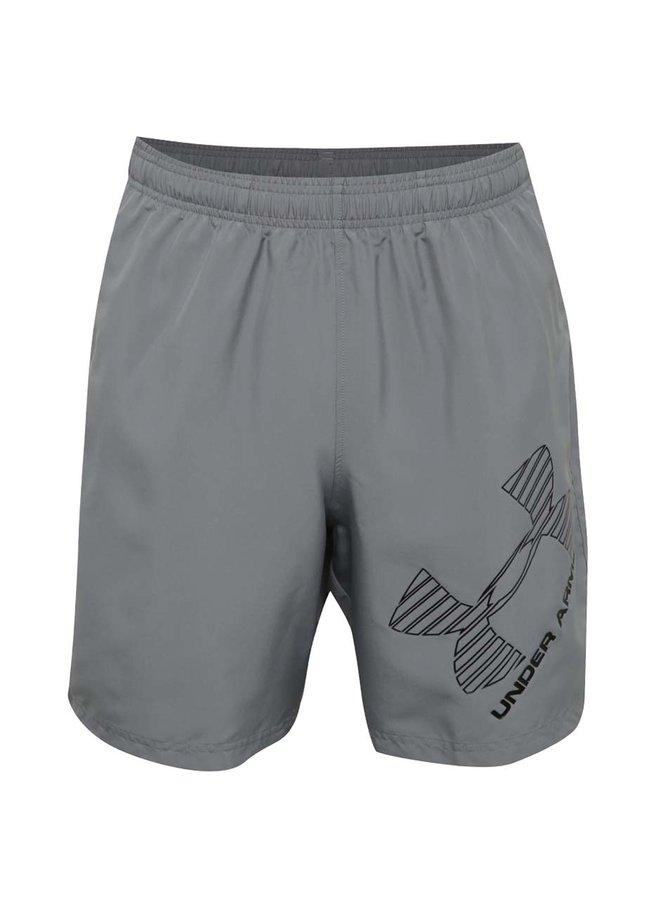 Pantaloni scurți sport gri Under Armour 8 Woven Graphic Short pentru bărbați