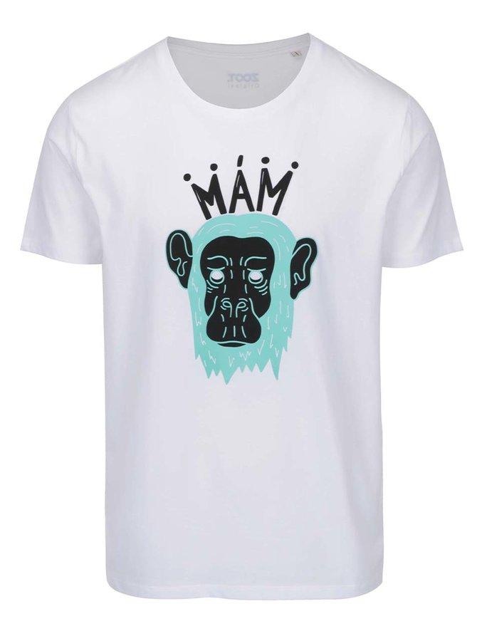 Bílé pánské triko s potiskem ZOOT Originál Mám opici