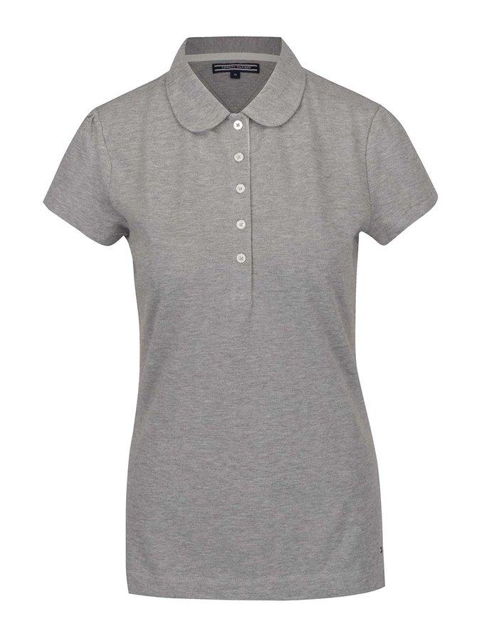 Šedé dámské polo tričko Tommy Hilfiger