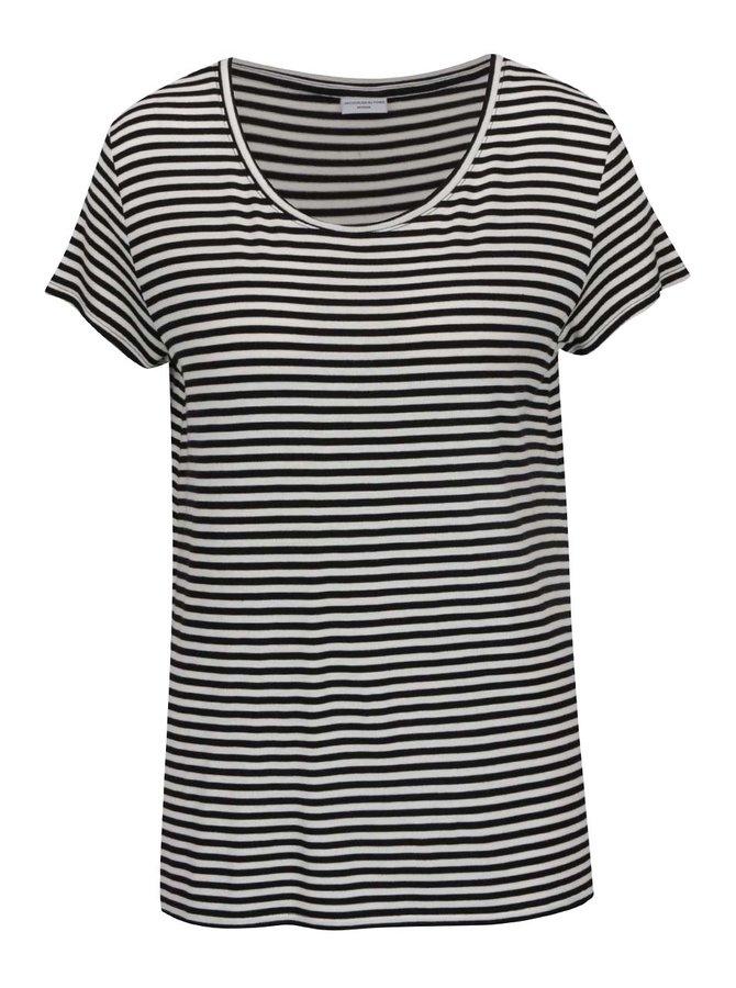 Černo-bílé pruhované tričko Jacqueline de Yong Spirit