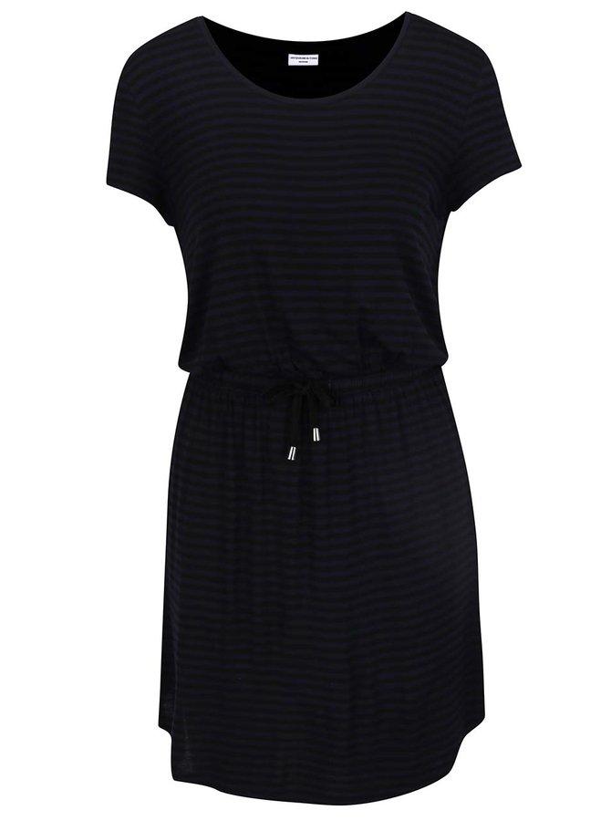 Tmavě modré pruhované šaty Jacqueline de Yong Spirit